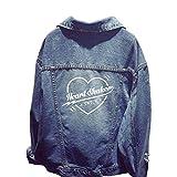 Kpop Twice Heart Shaker Hole Denim Jacket Womens Autumn Short Coats