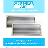 2 Crucial Air Replacement Air Purifier Filter Fit Hamilton Beach True Air 04383 Glow 04385 990051000