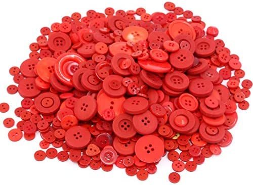 100pcs Resin Two Hole Round Buttons Craft Beading Scrapbooking ME