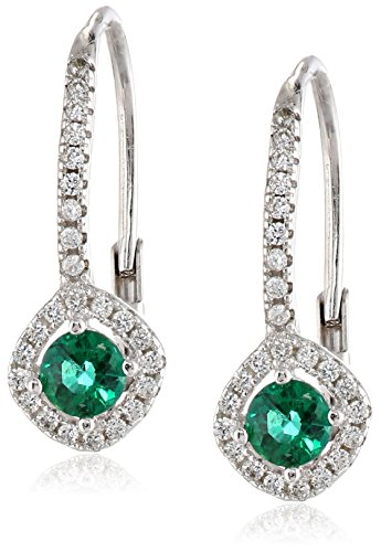 Sterling-Silver-Created-Emerald-Earrings