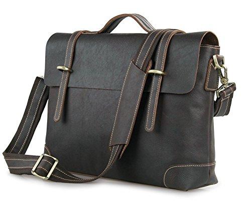 Men's Genuine Leather Messenger Portfolio Attache For Laptop Sale Briefcase Bags