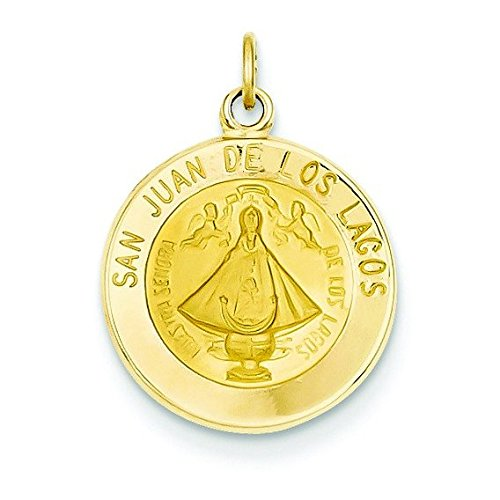 14 carats Notre Dame de San Juan-JewelryWeb médaille charme