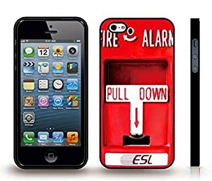 iStar Cases? iPhone 4 Case with Fire Alarm, Pull Down Fire Alarm, Photo, Close-up , Snap-on Cover, Hard Carrying Case (Black) by ruishername