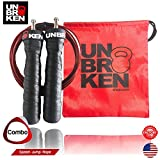 Unbrokenshop.com Cross Fitness Speed Jump Rope adjustable wire skipping exercise double under cardio boxing fitness compare RX