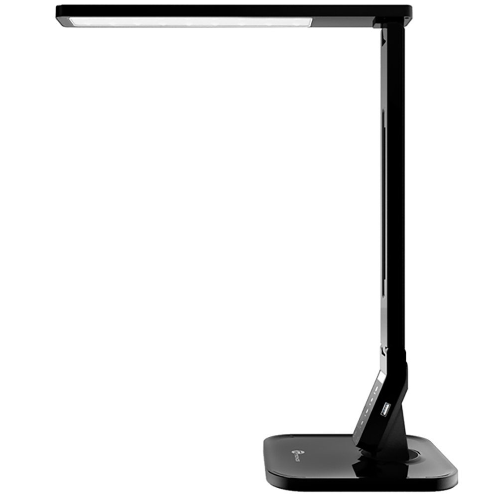 TaoTronics 14W LED Desk Lamp with USB Charging Port, Touch Control, 4 Lighting Mode with 5 Brightness Levels, Timer, Memory Function Black (Certified Refurbished)