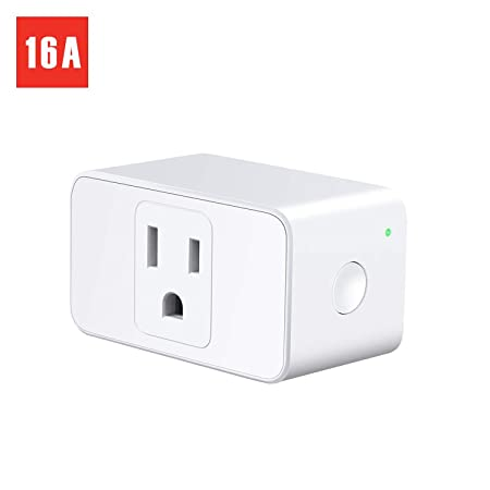 Meross WiFi Smart Plug Mini, 16 Amp Reliable Wifi Connection Powered by Mediatek Chipset, Alexa and Google Voice Control, App Remote Control, Timer, Occupies Only One Socket, No Hub Needed