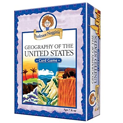 Professor Noggin\'s Geography of the United States - A Educational Trivia Based Card Game For Kids: Toys & Games [5Bkhe0402248]
