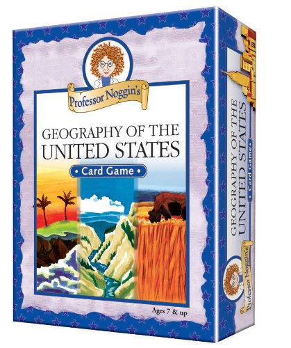 Professor Noggin's Geography of the United States - A Educational Trivia Based Card Game For Kids