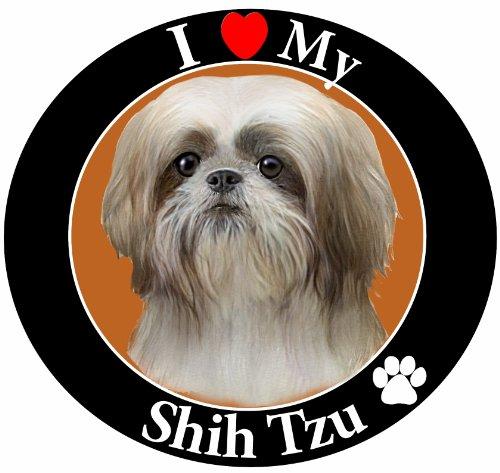 - E & S Pets Car Magnet, Shih Tzu, Tan/White Puppy Cut