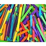 50 Coloured Standard Lolly Sticks