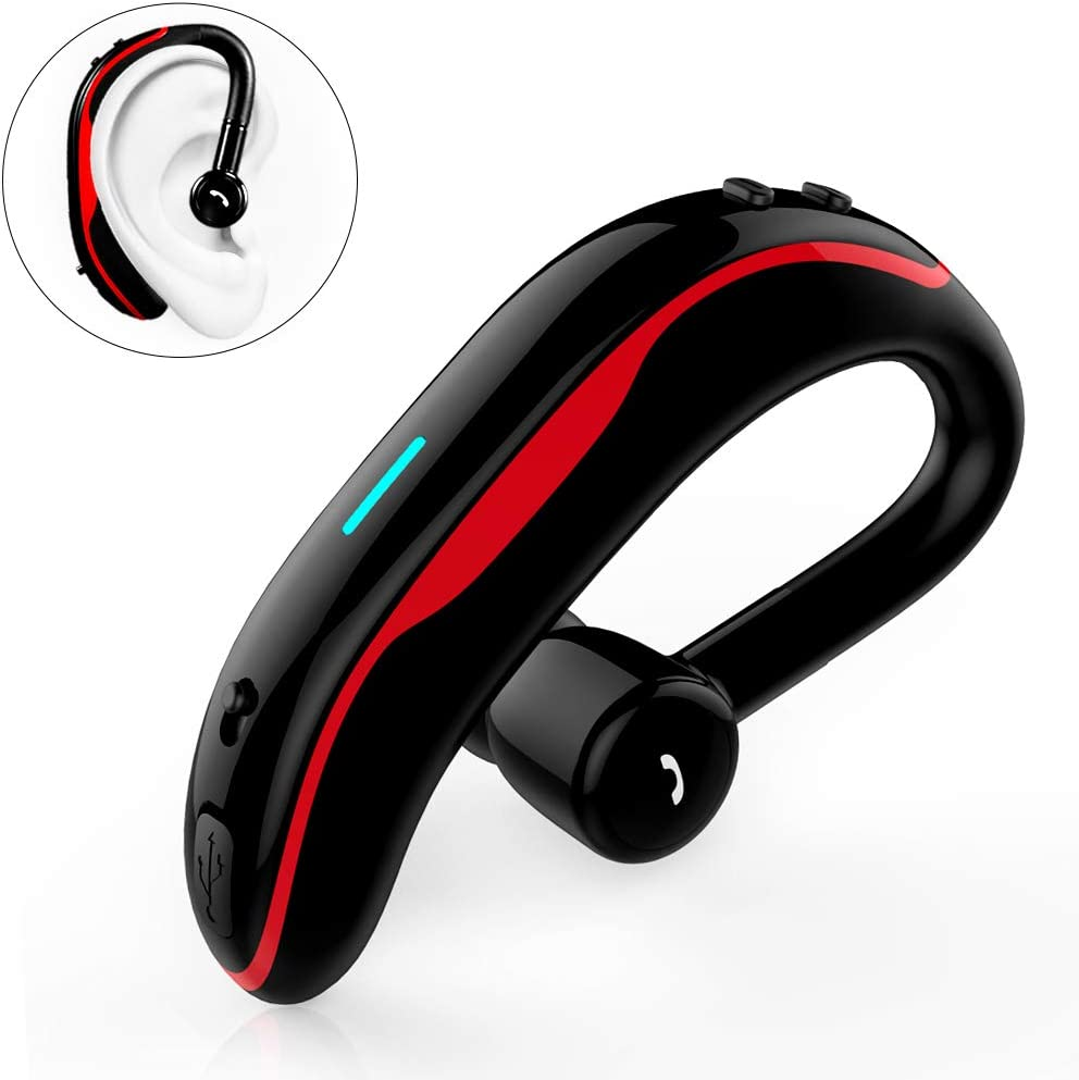 Amazon Com Slub True Wireless Bluetooth Single Earbud With Microphone 17 18 Hours Playtime Noise Cancelling Waterproof Ear Hook Sport Headset For Cell Phone Red Home Audio Theater