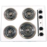Summit WEL03 Electric Cooktop, White