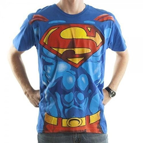 Superman Suit Up Men's DC Comics Costume T-Shirt