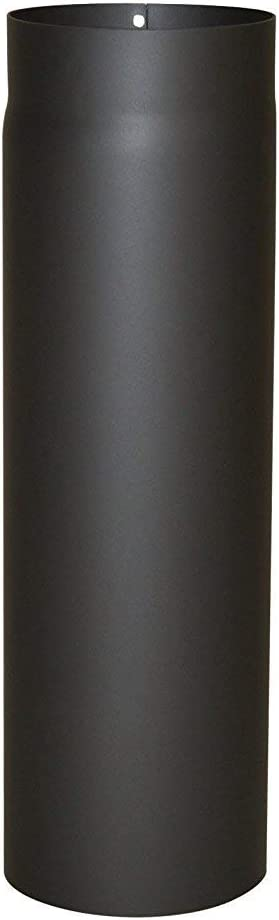 AdoroSol Vertriebs GmbH Ofenrohr Rauchrohr Senotherm /ø 150 x 500 mm Schwarz Verl/ängerung 2,0 mm Wandst/ärke