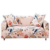 HOTNIU Stretch Sofa Cover Spandex Couch Slipcover Fitted Loveseat Couch Covers Floral Printed Slipcovers for Sofa Couch (Chair 35'' - 51'', Pattern #31)