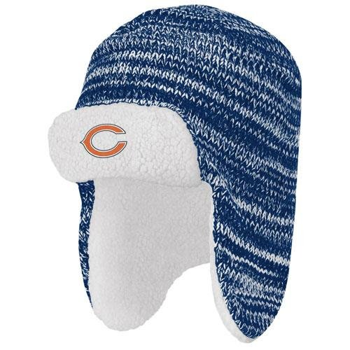 NFL Chicago Bears End Zone Trooper Hat, One Size Fits (Mens Chicago Bears End)