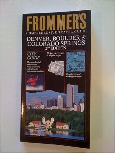 ?PDF? Denver, Boulder And Colorado Springs (Frommer's City Guides). Aprende motivos Lexus Hills tanto Somos conocido