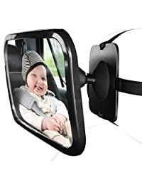 OxGord Baby Mirror Car Seat Cover For Infant Child Toddler Rear Ward Facing Safety View Reflection