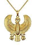 Best VNOX Friend Jewelry White Golds - Vnox Jewelry Stainless Steel Egyptian Horus Bird Pendant Review