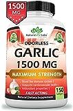 #1: [New!] Ordorless Garlic 1,500 mg 100% Pure Vegan Maximum Strength 150 softgels Boost Immune System Support of Healthy Cholesterol