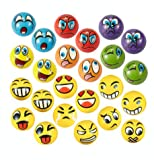 EMOJI Stress Ball 24 PCS Foam Squashy Balls (2.5'') Squeeze Toy to Release Stress