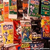Football Card Collection of 25 Unopened Wax Packs. BONUS DAN MARINO ROOKIE CARD REPRINT - Look for Rookie Cards, Hall of Famers, Special Inserts, and More!!