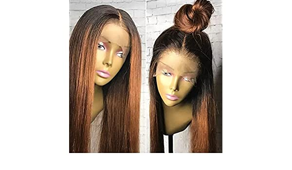 Amazon.com   Brazilian Lace Front Wigs Ombre Human Hair Ombre 1b 30 Hair  Color Wigs With Baby Hair Glueless Lace Front Human Hair Wig For Black  Women ... 8fe7b9ebb979