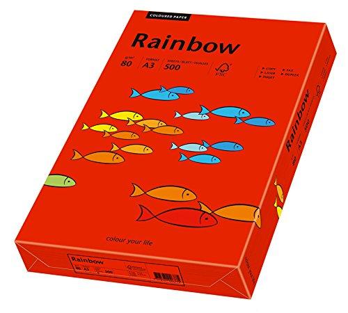Papyrus 88042478/ /Carta multifunzione Rainbow 80/g//m/² formato A3 confezione da 500/fogli rosso intenso