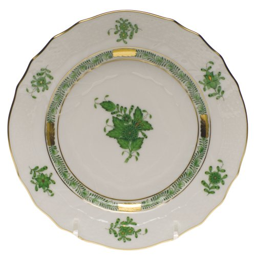 Bouquet Bread Plate - Herend Chinese Bouquet Green Bread & Butter Plate
