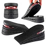 XXIN Height Increase Insole 3-Layer Air Cushion Heel Insert Lift Shoes Insole for Men and Women Half Shoe pad