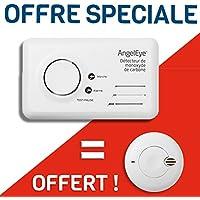ANGELEYE - Pack 1 Détecteur de monoxyde de Carbone ACCESS Garantie 7 ans + 1 détecteur NF garantie 5 ans offert