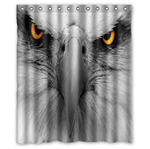 Best Seller The Bald Eagle With Piercing Eyes Design Custom 100% Polyester Waterproof Shower Curtain 60 x 72