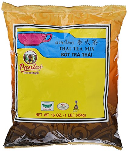 Thai Iced Tea Traditional Restaurant Style,16 oz (1LB.) (Iced Chai Tea Latte Recipe With Tea Bag)
