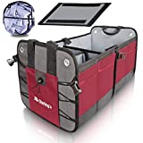 Car Trunk Organizer By Starling's:Eco-Friendly Premium Cargo Storage Container, for SUV, Truck, Auto, Vehicle. Heavy Duty Construction W/Car Sunshade