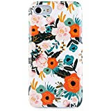 iPhone 7 Case for Girls, iPhone 8 Case, Dimaka Vintage Pattern Case [Floral Cover][High Impact][Hybrid 2 Layers] Case for iPhone 7 and iPhone 8 (Obsession Camellia)