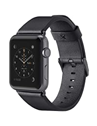 Belkin F8W731btC00 Classic Leather Wristband for Apple Watch Series 2 & 1, 38 mm, Black