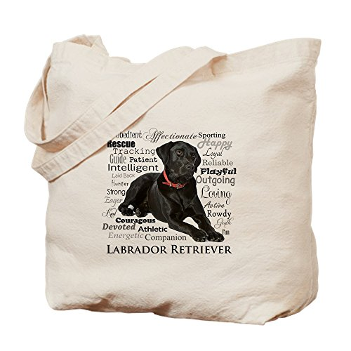 CafePress Black Lab Traits Natural Canvas Tote Bag, Cloth Shopping Bag ()
