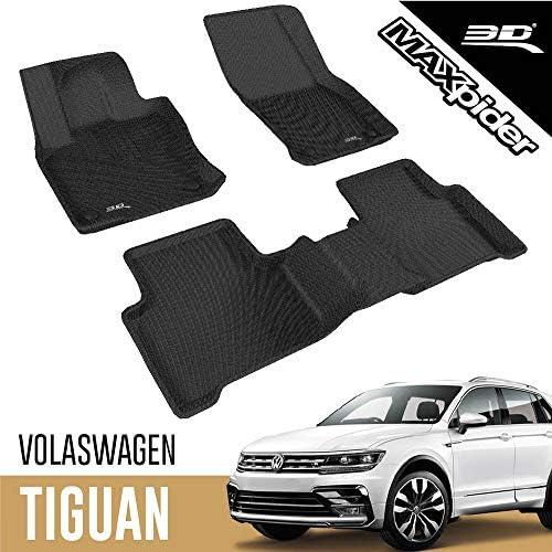 3d Maxpider Allwetter Fussmatten Für Volkswagen Tiguan 2016 2020 Passgenaue Fußmatten Auto Gummi Matten Gummimatten Auto