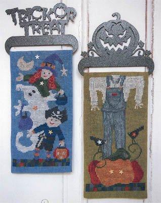 (Halloween Banners Cross Stitch Chart)