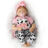 SanyDoll Reborn Baby Doll Silicona suave 22 pulgadas 55cm Magnetic Lovely realista Lindo bebé encantador bebé durmiendo