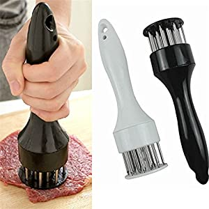 1 pcs rofession Meat Meat Tenderizer Needle With Stainless Steel Kitchen Tools (White)