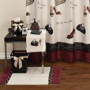 Chantilly Bath Collection Shower Curtain Home Kitchen