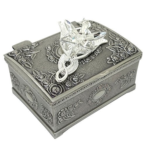 PALLION® Silver Plated Lord of the Rings Arwen's Evenstar Pendant Necklace with Jewelry Box Women,Girls US Seller