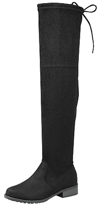 7c0d90cf097 Forever Link Jalen-H4 Women s Over The Knee Thigh High Flat Boot