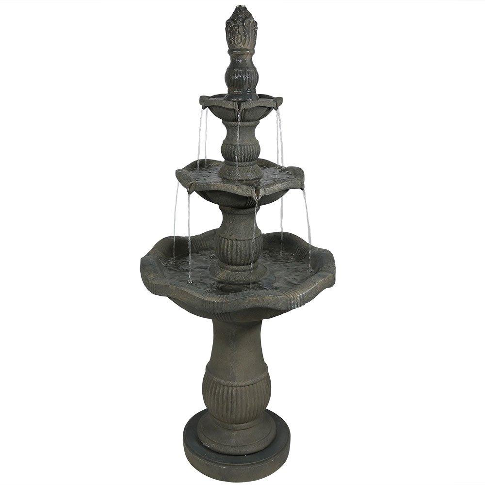Sunnydaze Vivan 3-Tier Garden Water Fountain, 57 Inch Tall by Sunnydaze Decor
