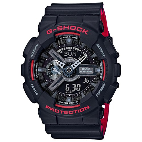 G Shock GA 110HR Black Red Size