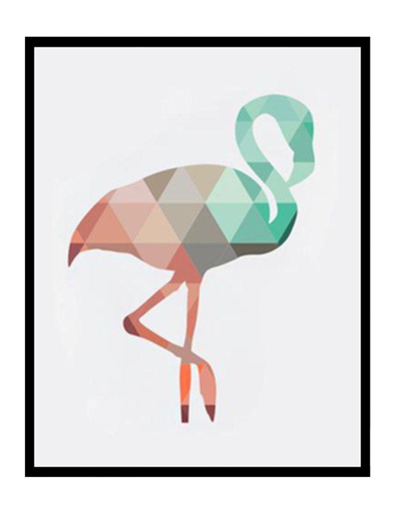 Géométrique corail Animaux Toile Art Impressions Affiches Cerf Tête Girafe Ours Flamant Modèle Abstrait Giclées Impression de photos murales Décoration d'intérieur pas de cadre PTGM001-S A Design Direct