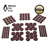 Heavy Duty Felt Pads for Chair Legs Felt Furniture Pads (152 Piece) Self-Stick Value Variety Pack, Heavy Duty, Eco-Friendly, Brown