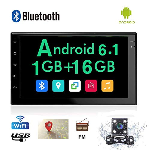 1 Gb Audio - Android Car Stereo Double Din 7 inch Touch Screen Car Radio in Dash Car Stereo Bluetooth WiFi GPS Navigation Car Audio 1GB RAM 16 ROM Multimedia Player Support Mirror Link USB SD + Car Backup Camera