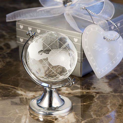 Crystal Globe Wedding Favors, 30